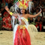 young girl performs as Chief
