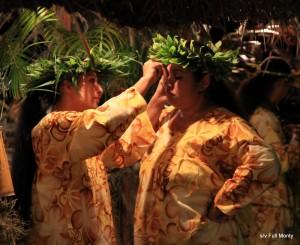 Maeva singers preparing