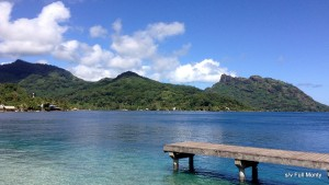Huahine means woman ~ the mountains are the image of a pregnant woman
