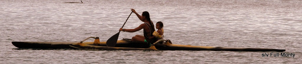 mom & babe out for a paddle